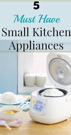 The rice cooker is one of these 5 must-have small kitchen appliances. | Tiny Homes #TinyHomeAppliances