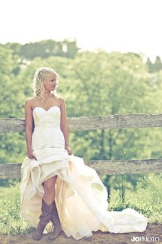 I would love to look like this on my wedding day. Only with real riding boots. Not madden girls.