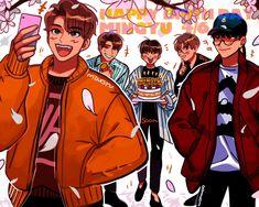 Seungkwan, Wonwoo, Cartoon Fan, Mingyu Seventeen, Kdrama Memes, Boy Groups, Meanie, Fan Art, Kpop