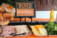 Construction birthday party, second birthday, Build Your Own Sandwich bar