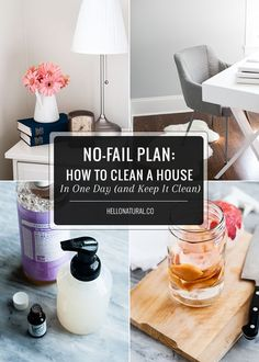 No-Fail Plan: How To Spring Clean Your House (and Keep It Clean!)   http://hellonatural.co/how-to-clean-a-house-in-one-day-and-keep-it-clean/