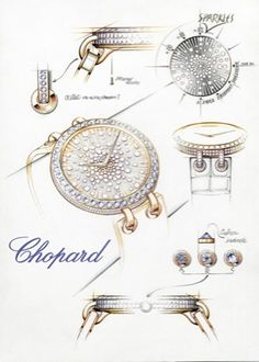 Explore the complete collection of Chopard Watches for Men & Women at Johnson Watch. Jewellery Sketches, Jewelry Sketch, Jewelry Design Drawing, Jewelry Art, Stone Jewelry, Jewelry Illustration, Chopard, Schmuck Design, Minimalist Jewelry