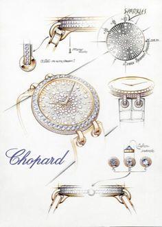 Chopard. Watch sketch...♡
