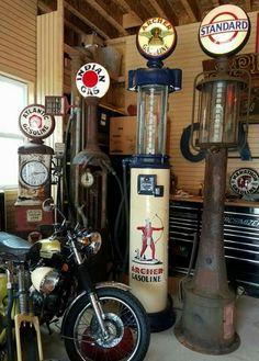 Restored Original Gas Pump Collection