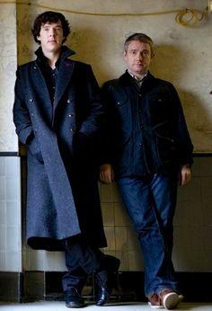 #Sherlock #BenedictCumberbatch #JohnWatson #MartinFreeman ❤