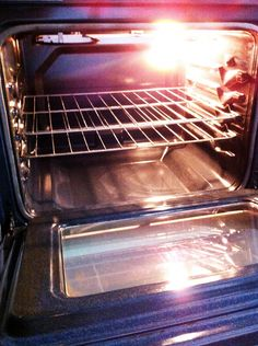 Clean your oven and oven racks safely and relatively easily. Baking soda and dryer sheets...really.