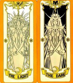 The Light/ The Dark, Card Captors Sakura Kawaii Drawings, Cartoon Drawings, Light Tattoo, Dark Tattoo, Room Deco, Card Captor, Clear Card, Anime Tattoos, Cardcaptor Sakura