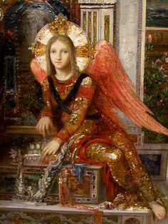 Angel (King David detail) Gustave Moreau 1878