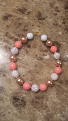 Check out this item in my Etsy shop https://www.etsy.com/listing/237598498/sale-ready-to-ship-coral-gold-white