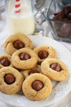 Peanut Butter Blossoms from What The Fork Food Blog