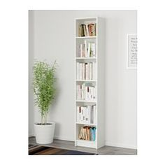 IKEA - BILLY, Boekenkast, wit, , Met ondiepe kasten kunnen ook minder brede wandoppervlakken effectief worden gebruikt.Verstelbare planken; naar behoefte aan te passen.Een enkele eenheid kan voldoende opbergruimte bieden voor een beperkte ruimte of de basis vormen voor een grotere opberger als je behoeftes veranderen.