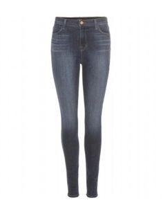 get skinny! Maria High-Rise Skinny Jeans #JBrand #denim #jeans #covetme #skinnyjeans #fashion #style #offduty