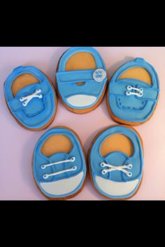 Baby Shower Shoes Sugar Cookies
