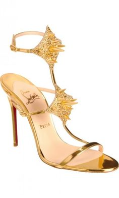 Christian Louboutin Lady Max gift sparkle gold luxury sandal strappy price:$1,495