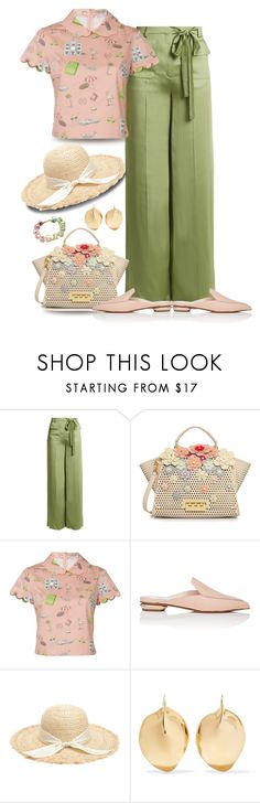 """""""Shopping with the girls"""" by stephanielee4 ❤ liked on Polyvore featuring Valentino, ZAC Zac Posen, Olympia Le-Tan, Nicholas Kirkwood and Ariana Boussard-Reifel"""