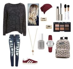 School Days #25 by jaydengonz on Polyvore featuring polyvore, fashion, style, rag & bone/JEAN, Current/Elliott, adidas Originals, Vans, Burberry, Kate Spade, Aéropostale, NARS Cosmetics, Ilia, Essie and clothing