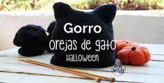 Cómo tejer un GORRO con OREJAS de GATO súper fácil en todas las tallas, desde 1 año hasta adultos #dosagujas #tricot #punto #gorro #halloween #gato #soywoolly