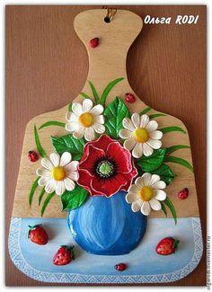 """Набор для кухни """"Полевые цветы"""" (декоративная доска и подкова). Мир УЮТных вещиц Ольги RODI. Ярмарка мастеров."""