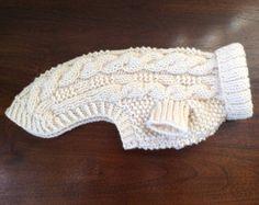 Suéter del perro - Pescador Classic Cable Knit - Aran