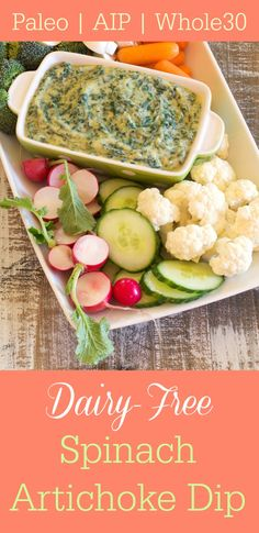 Dairy Free Spinach Artichoke Dip Recipe - AIP Paleo & Whole30 (from Nourish Cookbook via Primally Inspired)