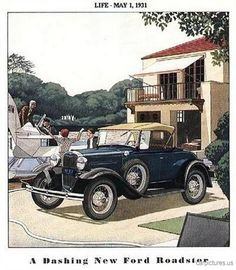 1931 Ford Model A Roadster Ad.