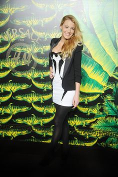 Actress Blake Lively attends the Versace for H Fashion event at the H on the Hudson on November 8, 2011 in New York City.