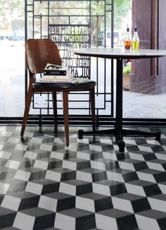 patterned Heritage tiles at the Pizza Express in Colaba. Geometric 3d, Pooja Room Design, Studio Background Images, Eclectic Taste, Pooja Rooms, Bar Stools, Cool Designs, Sweet Home, Pizza Express