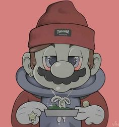 Super Mario: Roll Up cheech Trippy Cartoon, Dope Cartoon Art, Cartoon Smoke, Cartoon Kunst, Cannabis Wallpaper, Weed Wallpaper, Arte Dope, Dope Art, Cartoon Wallpaper