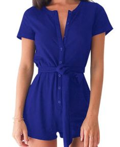 Products – Page 2 – Cardibae Fashions Short Jumpsuit, Online Shopping For Women, Blue Shorts, Soft Fabrics, Evening Dresses, Fashion Dresses, Short Sleeves, Rompers, Lingerie