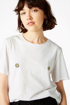 Monki Image 1 of Cotton tee in White