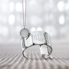 Monogrammed Sterling Silver Jewelry