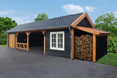 Every thought about how to house those extra items and de-clutter the garden? Building a shed is a popular solution for creating storage space outside the house. Whether you are thinking about having a go and building a shed yourself Wood Storage Sheds, Garden Tool Storage, Storage Shed Plans, Wood Shed, Garden Tools, Wooden Gazebo, Carport Designs, Shed Design, Outdoor Sheds