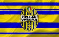 Scarica sfondi Hellas Verona, calcio, Logo, Serie A, Italia, club di calcio, emblema
