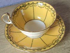 Antique Aynsley art deco tea cup set vintage ♥ by ShoponSherman, $89.00
