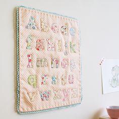 alphabet quilt blogged