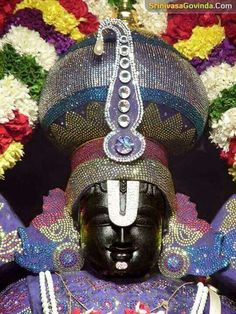 This Deity of Lord Vishnu, an expansion of Lord Krishna, is also known as Venkateshwara or Balaji, the Lord of seven hills at Tirupati. He holds a chakra (disc) and shankha (conch) in two hands and blesses devotees with the other two. Lord Vishnu, Lord Ganesha, Lord Shiva, Shiva Songs, Hanuman Chalisa, Krishna Radha, Lakshmi Images, Lord Balaji, Lord Krishna Wallpapers