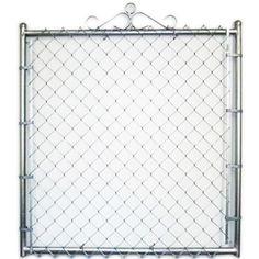 3-ft 6-in x 4-ft Galvanized Steel Chain-Link Walk Gate