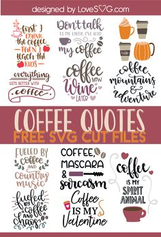 Free Funny Coffee Quotes SVG Cut Files Free Funny Coffee Quotes SVG Cut Files,digi stamps Related posts:Free Rise and Shine Mothercluckers SVG DXF PNG & JPEG - freeMakeup simple freebies by mail 49 ideas. Cricut Svg Files Free, Cricut Fonts, Cricut Vinyl, Cricut Tutorials, Cricut Ideas, Cricut Project Ideas, Cricut Craft Room, Coffee Quotes, Coffee Mugs