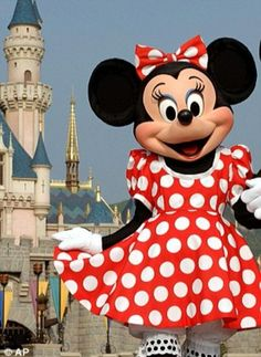Lovely and sweet Minnie Mouse at Hong Kong Disneyland