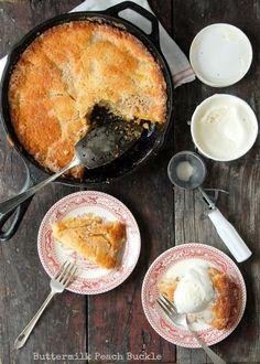 Buttermilk Peach Buckle- BoulderLocavore  ☀CQ #GF #glutenfree #GlutenFree #recipes