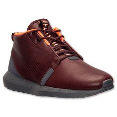 Men's Nike Roshe Run Premium Natural Motion Sneakerboot| Finish Line | Barkroot Brown/Hyper Crimson/Cedar