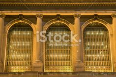 Grand Central windows Royalty Free Stock Photo