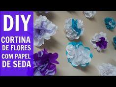DIY cortina flores aprenda a fazer!