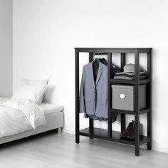 Ikea Open Wardrobe, Hemnes Bookcase, Free Standing Wardrobe, Grande Armoire, Box Bedroom, Bed Photos, Hallway Storage, White Stain, Home Upgrades