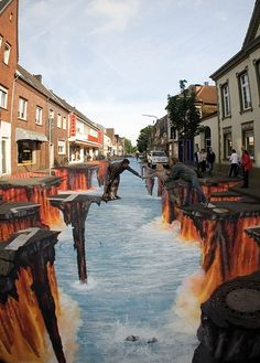 Sidewalk Chalk Art, Germany