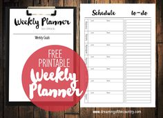 Dreaming of the Country : Weekly Planner: Free Printable