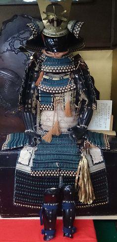 Armure d'officier Paon Bleu -- Blue Peacock officer's armor.
