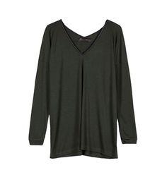 Longline viscose loose fit blouse
