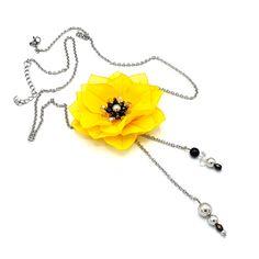 DAISY| Colier lung/ floare galbenă