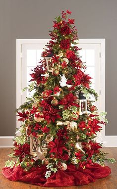 Christmas Tree Decorations 2014 35 christmas décor ideas in traditional red and green | digsdigs